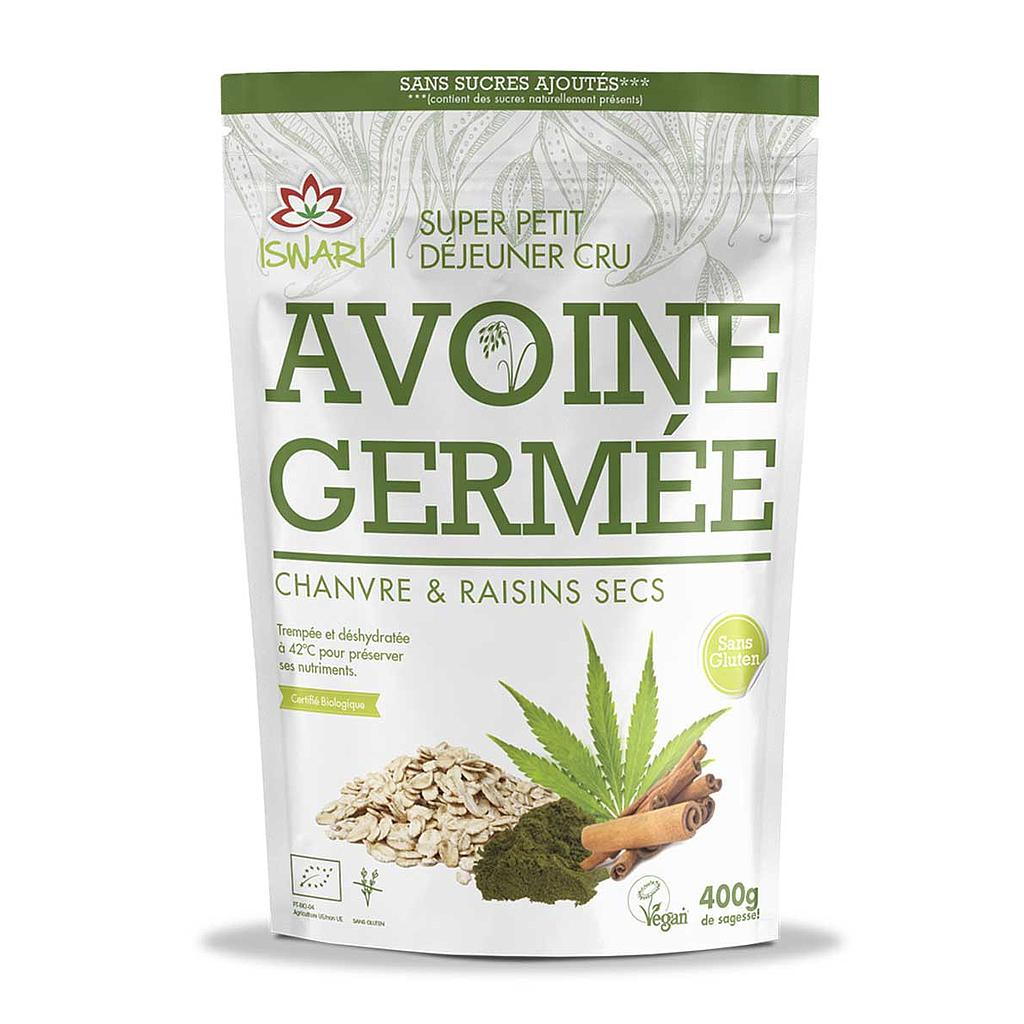 Avoine Germée - Chanvre & Raisins secs Superfood porridge 400g Bio