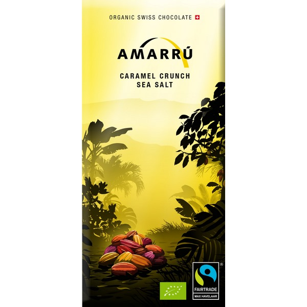 Chocolat Caramel 100g Crunch Sea Salt Bio Amarru