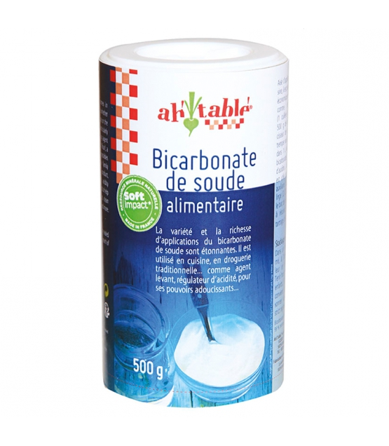Bicarbonate de Soude ALIMENTAIRE, Ah Table!, 500 g