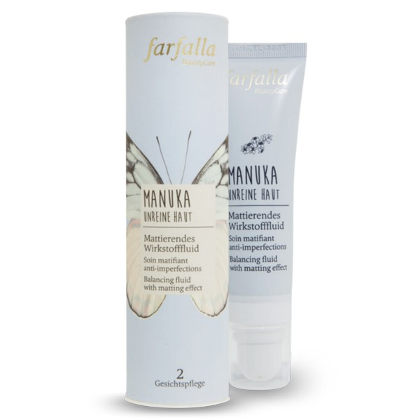 Manuka Soin matifiant anti-imperfections tube 30ml bio Farfalla
